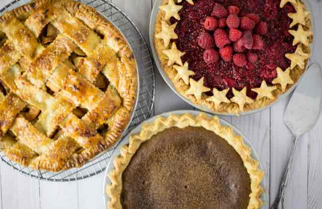 Dairy-free pie crust and fillings